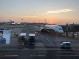羽田空港に到着したB8