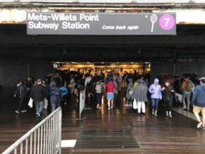 地下鉄7番の駅に到着