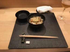 松茸と甘鯛のお吸い物