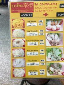 麺を選ぶ案内
