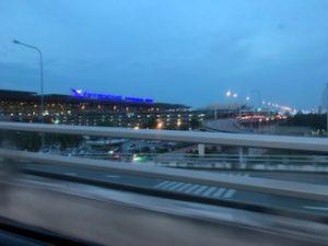 朝のスワンナプーム空港