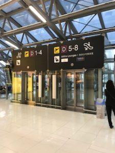 Dゲートに直行できるエレベーター