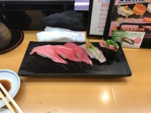 すしざんまいで深夜の寿司