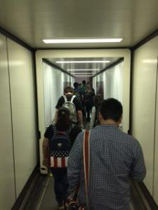 浦東空港に到着直後