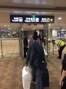 浦東空港に入っていくところ