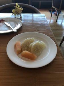 朝食のおすすめはグレープフルーツ