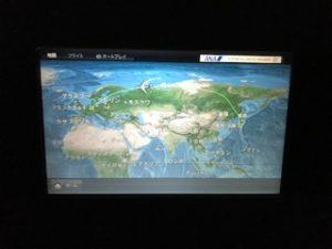 長いヨーロッパへのフライトマップ