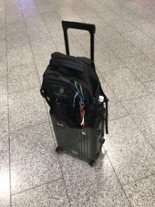 こんなに小さい荷物でヨーロッパ来たの初めて