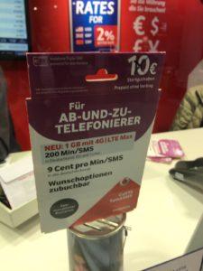 35ユーロの安い方のSIM