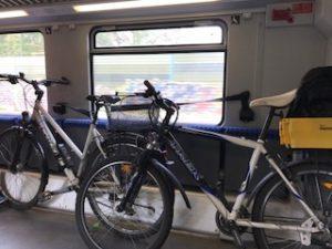 自転車も乗っているドイツ鉄道