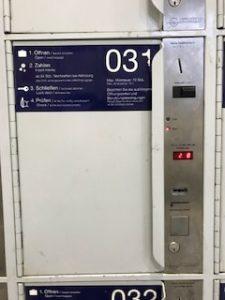ドイツのコインロッカー開け方