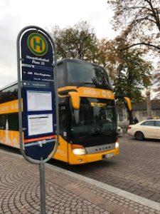 フランクフルト空港のエアポートバス