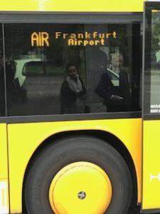 行き先はフランクフルト空港