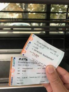 2枚の乗車券