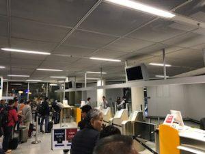 フランクフルト空港搭乗口