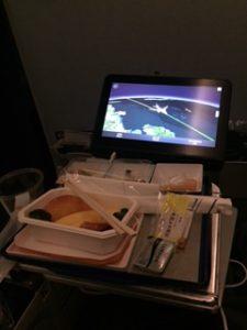ANAの機内食は洋食をチョイス