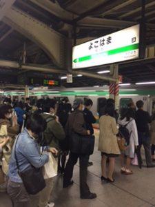 東海道線で横浜出発