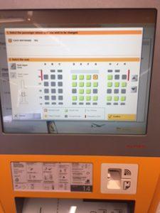 ルフトハンザで自動チェックイン機利用