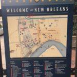 ニューオリンズの案内地図看板