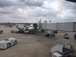 ニューオリンズの空港でユナイテッド航空