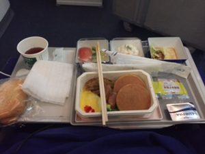 ANA機内での朝食
