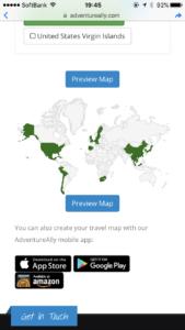 世界地図のアプリ