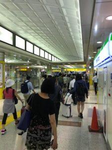 京成で成田空港駅に到着
