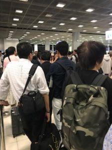 スワンナプーム空港入国審査で長蛇の列