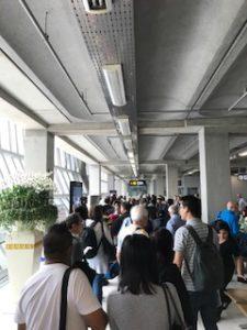 バンコクのスワンナプーム空港のD8A搭乗口