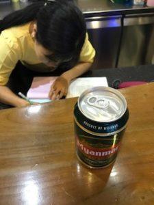 ミャンマービールを注文