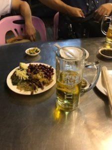 タイガービールとミャンマーのおつまみ