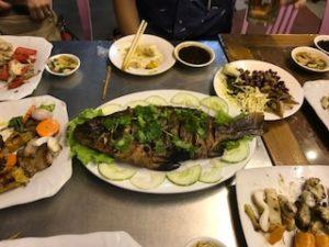 タイみたいな魚料理