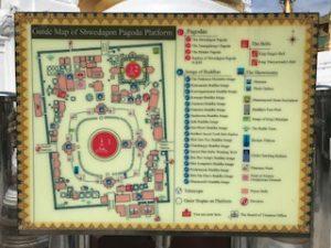 シュエダゴン・パゴダの地図