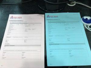 ミャンマーの銀行口座開設書類