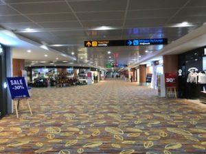ヤンゴン空港出発ロビー