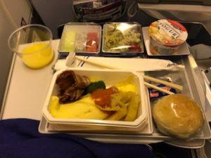 朝のANA機内食