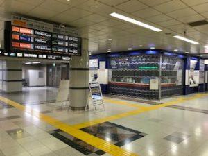 朝の成田空港第一ターミナル駅