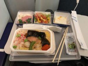 ANAの機内で海鮮丼