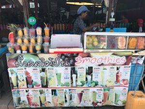 ラン島のフルーツジュース売り場