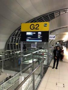 バンコク空港のG2搭乗口
