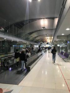 タイのスワンナプーム空港に到着