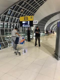 スワンナプーム空港の搭乗口