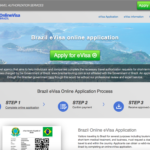 ブラジルeVISAのオンライン申請ページ