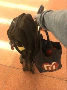 上海からの荷物を配送