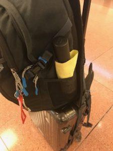 サイドポケットに折りたたみ傘が入る