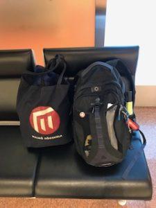 荷物を軽くして手荷物で移動