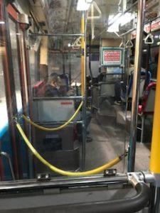 羽田空港循環バスの車内