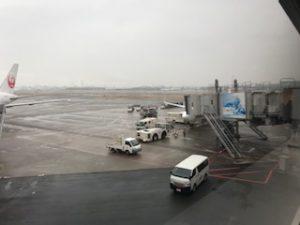 羽田空港のJAL機のB737