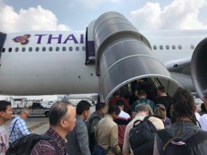 タイ国際航空TG319便に搭乗