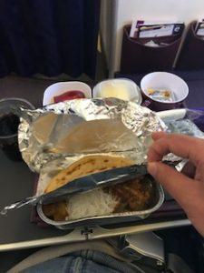 タイ航空のチキンの機内食